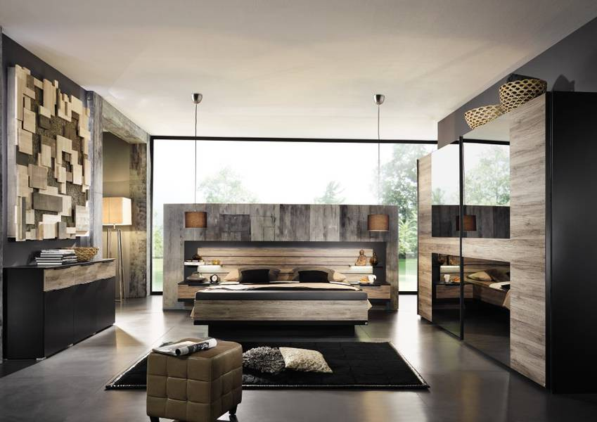 schlafzimmer von steffen ventura in schwarz matt abs eiche sanremo dunkel. Black Bedroom Furniture Sets. Home Design Ideas