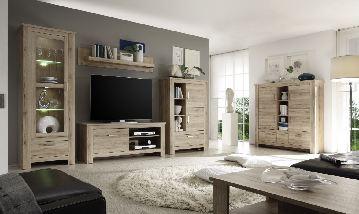 wohnzimmereinrichtung holz. Black Bedroom Furniture Sets. Home Design Ideas
