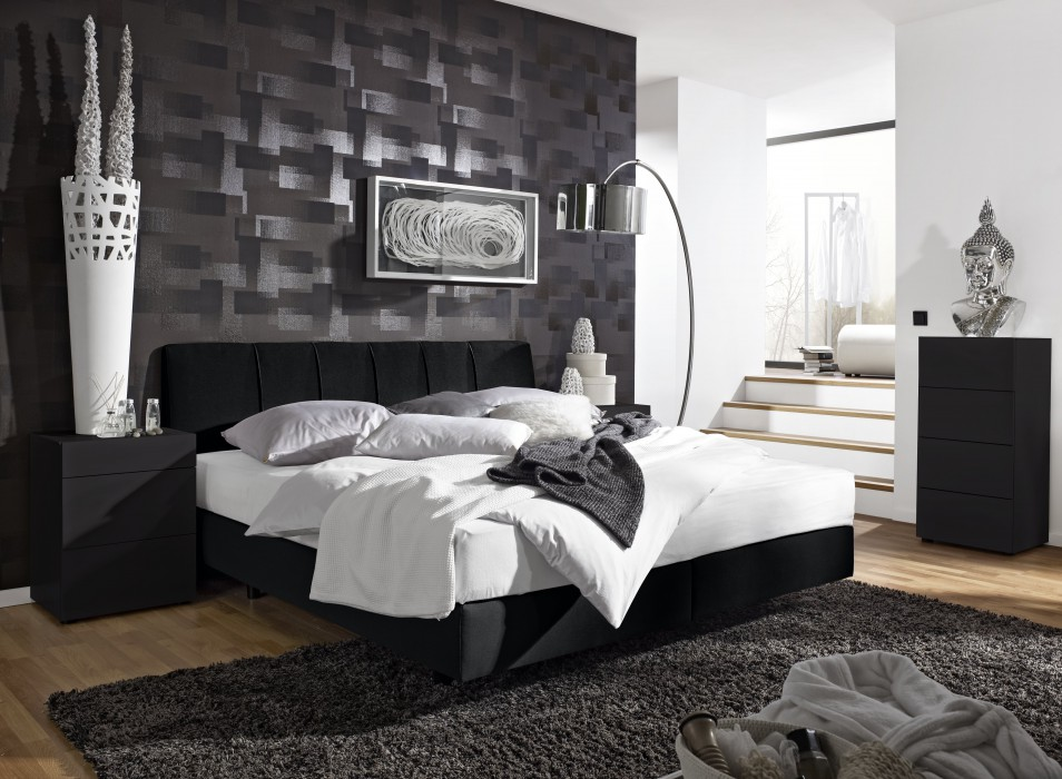 2017 schlafzimmer mit boxspringbett interieurs inspiration. Black Bedroom Furniture Sets. Home Design Ideas
