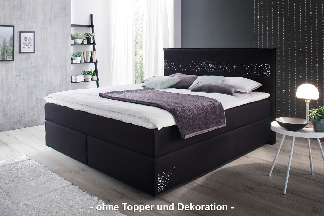 meise boxspringbett stella schwarz mit. Black Bedroom Furniture Sets. Home Design Ideas