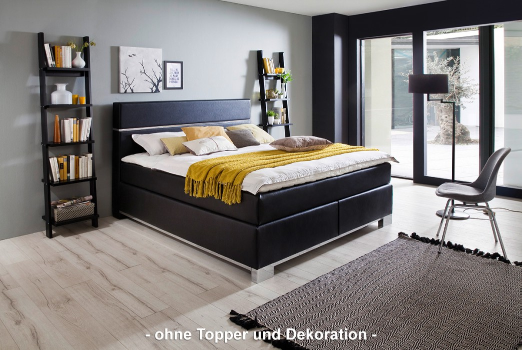 meise boxspringbett indigo schwarz 180x200 cm h3. Black Bedroom Furniture Sets. Home Design Ideas