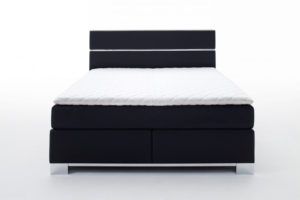 meise boxspringbett indigo kunstleder schwarz 180x200 cm h3 schlafen boxspringbetten 180 x. Black Bedroom Furniture Sets. Home Design Ideas