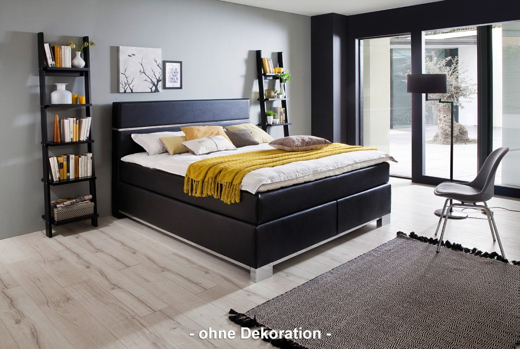 meise boxspringbett indigo schwarz 180x200 cm h3 inkl topper hersteller meise m bel. Black Bedroom Furniture Sets. Home Design Ideas