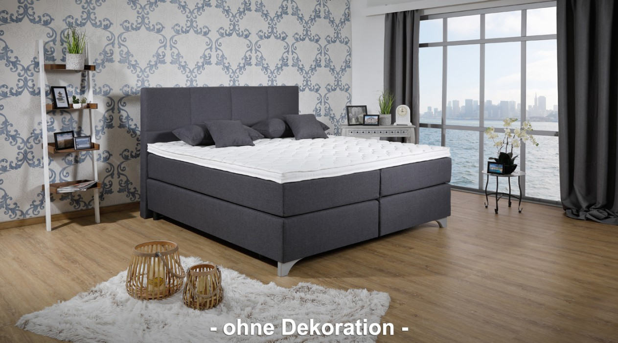 breckle boxspringbett arga preime 140x200 cm inkl topper 3700 gelschaum und kissenset. Black Bedroom Furniture Sets. Home Design Ideas