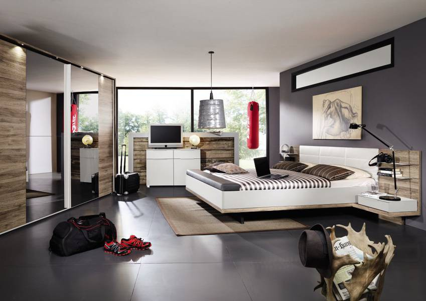 modernes schlafzimmer grau m belideen. Black Bedroom Furniture Sets. Home Design Ideas